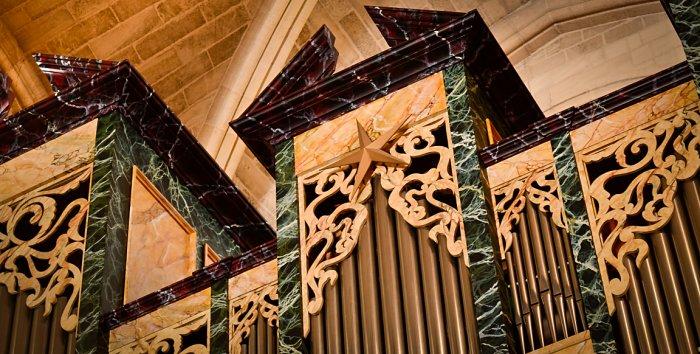 Détail de l'orgue de Saint-Augustin
